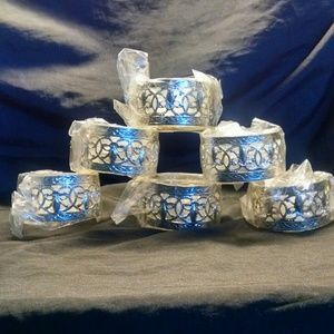 Vintage silver plate napkin holder ring